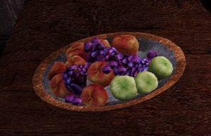 各種フルーツが盛られた皿